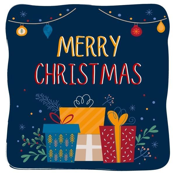 Merry Christmas presents animation