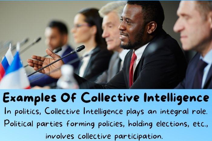 Politicians talking and thinking together and using collective intelligence.