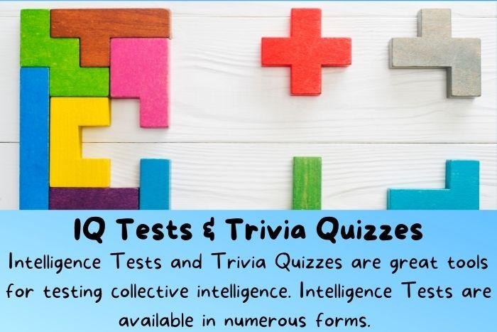 An easy IQ test of shapes. IQ tests and trivia quizzes can use for collective intelligence.