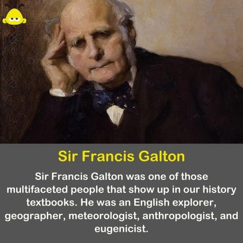 A photo of Sir Francis Galton, who discovered the wisdom of the crowd.