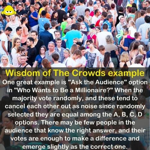 A big crowd - Wisdom of the crowd example