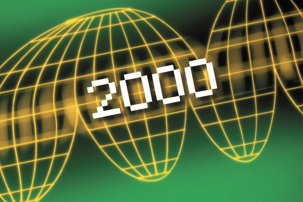 The number 2000 is on a yellow and green background.