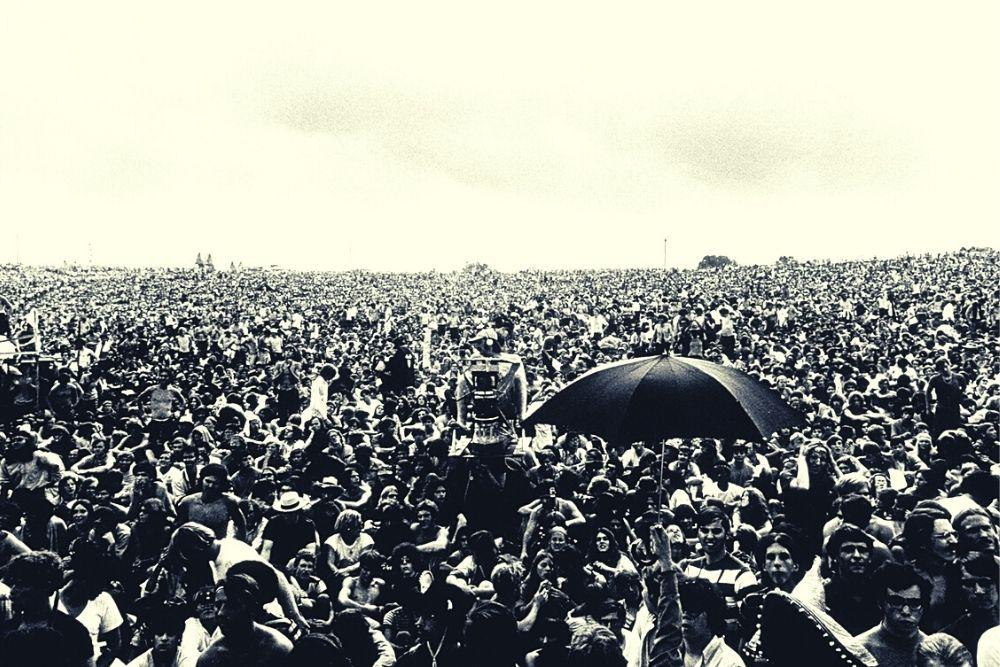 Woodstock music festival.