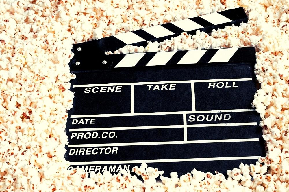 1990s movie black board.