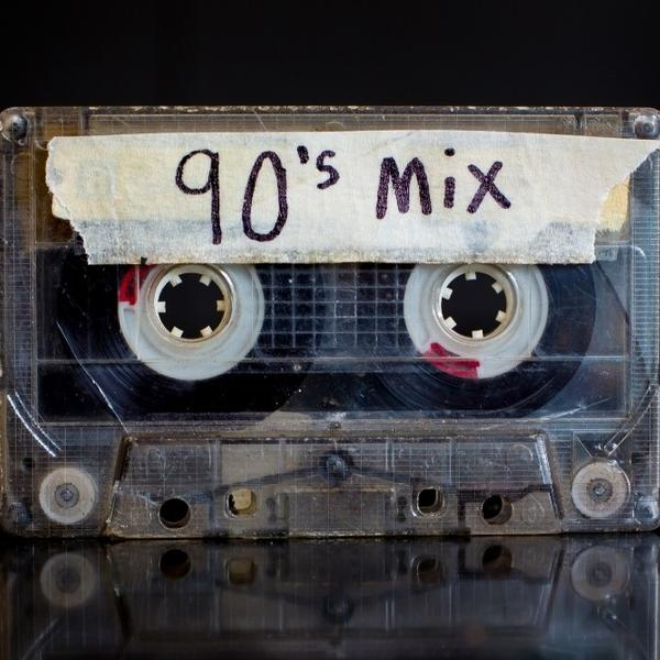 An old cassette of 90s music mix.