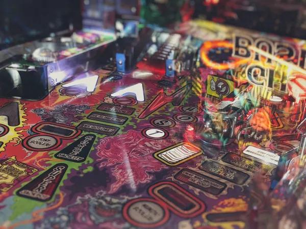 90s colorful pinball game machine.