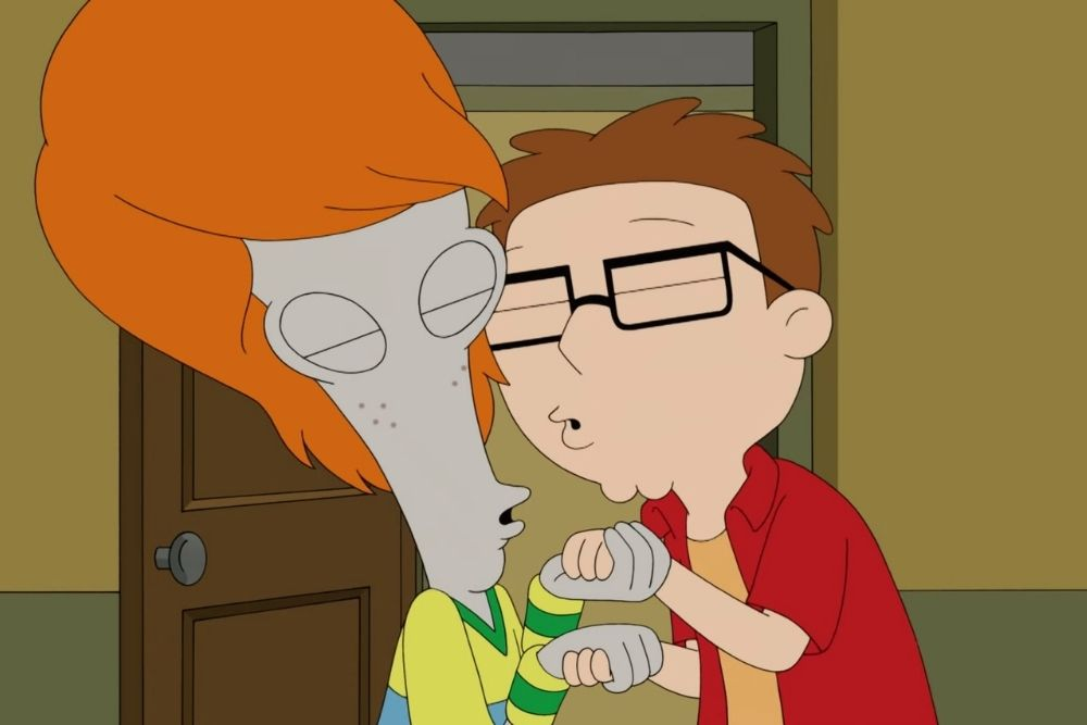 Roger and Steve from the American Dad TV series.