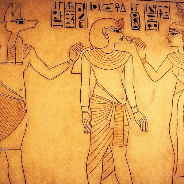 Ancient painting of from the historical times of Egypt.