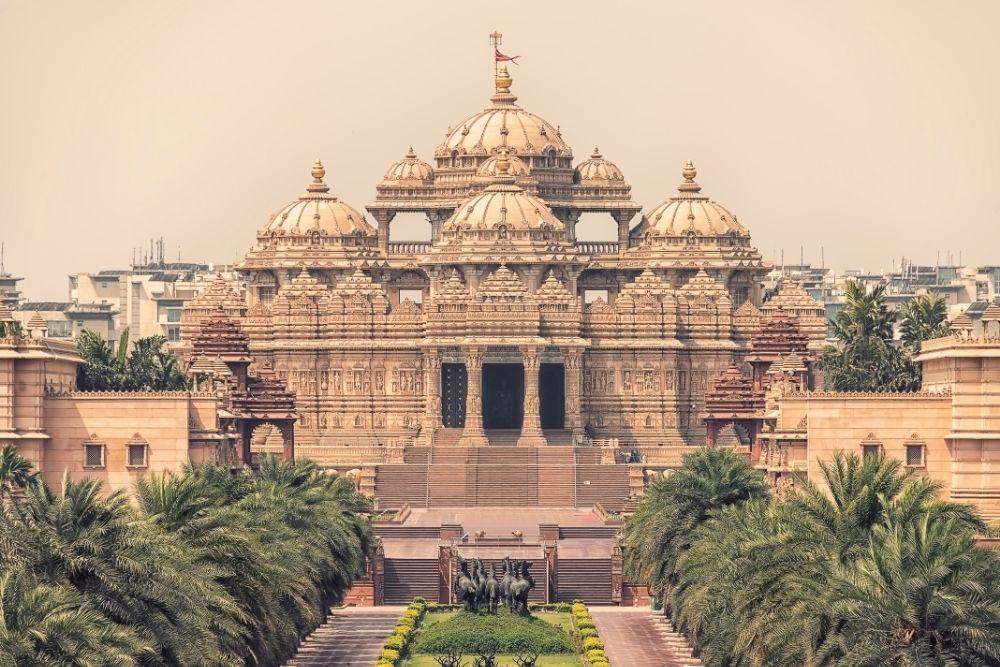 The Swaminarayan Akshardham temple in New Delhi, India, Asia.