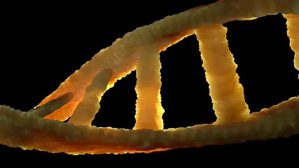 Realistic 3d share of DNA to show cell biology.