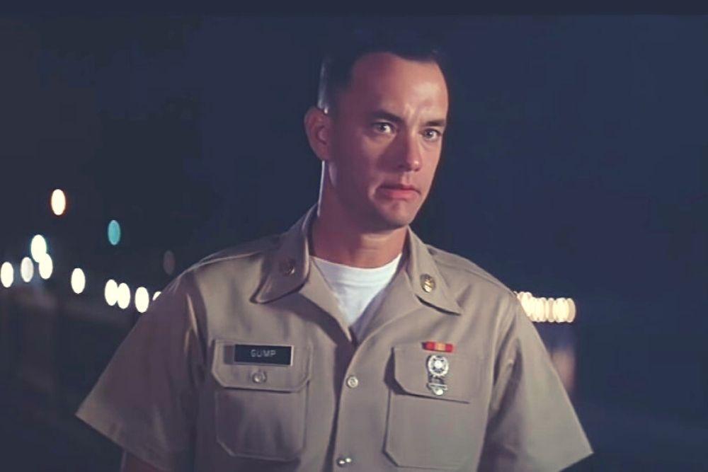 Forrest Gump in a soldier uniform.