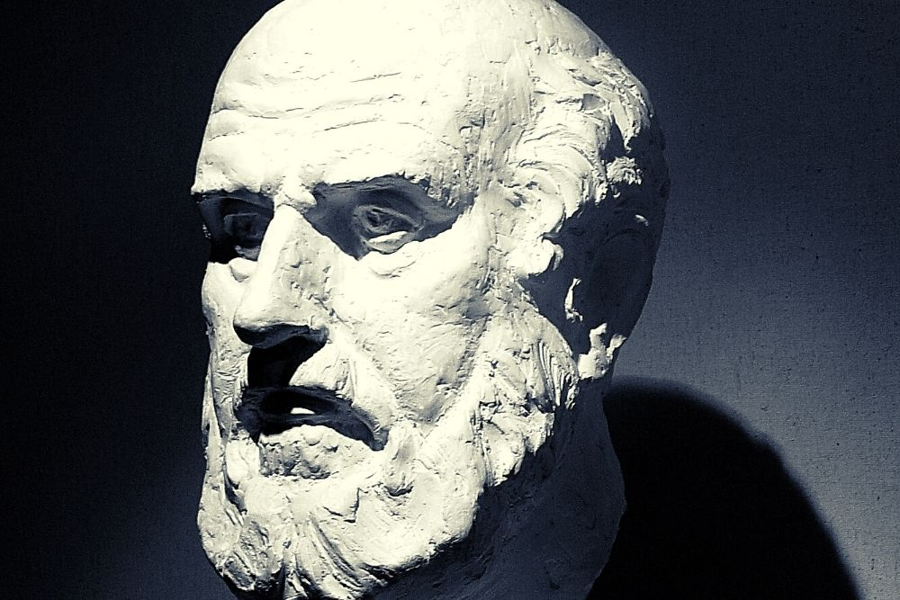 Hippocrates, the father of medicine and an important historical figure.