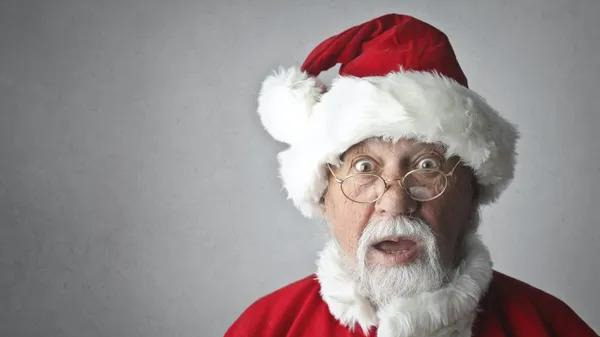 Santa is surprised to hear holiday fun facts.