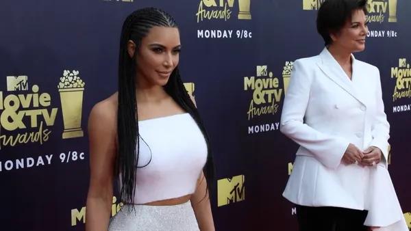 Kim Kardashian & Kris Jenner at the MTV Awards.