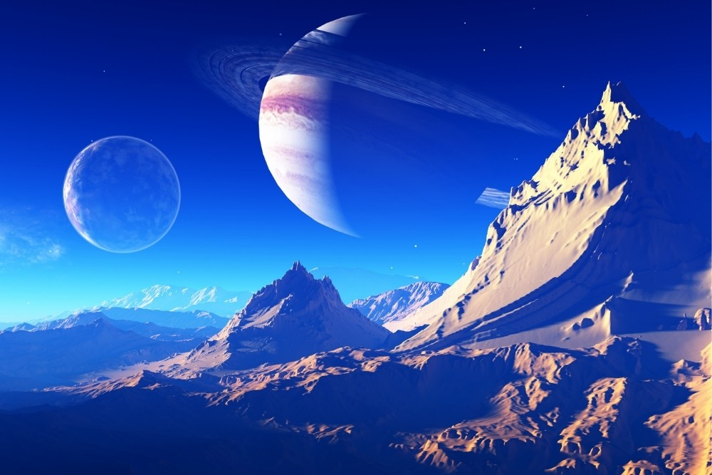 A look on other space planets from another planet.