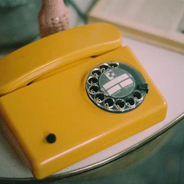 Vintage 80s retro dial phone.