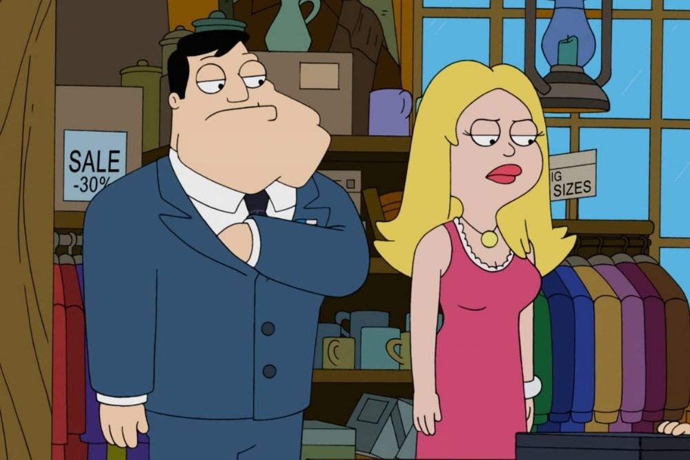 Stan and Francine from the American Dad TV series.