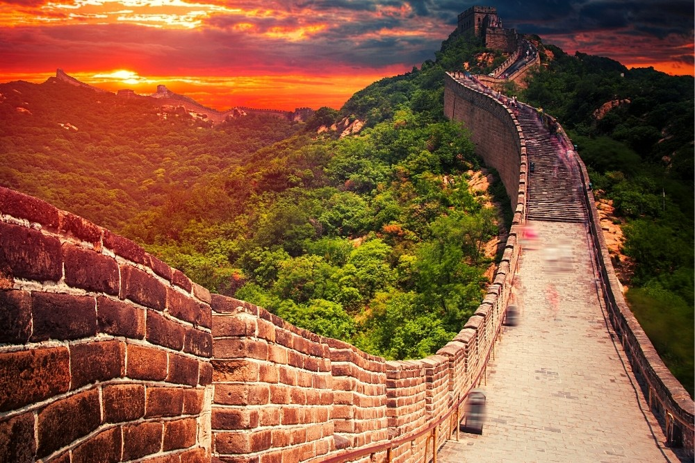 The ancient historical Chinese wall.