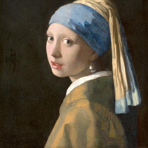 Girl with a pearl earring, Art by the painter Johannes Vermeer.