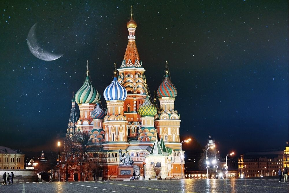 The Kremlin In Moscow, Russia, Asia.