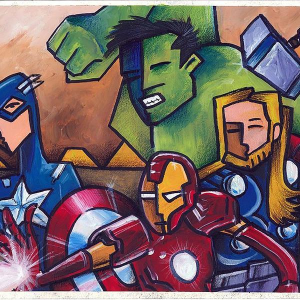 Illustration of the Avengers.