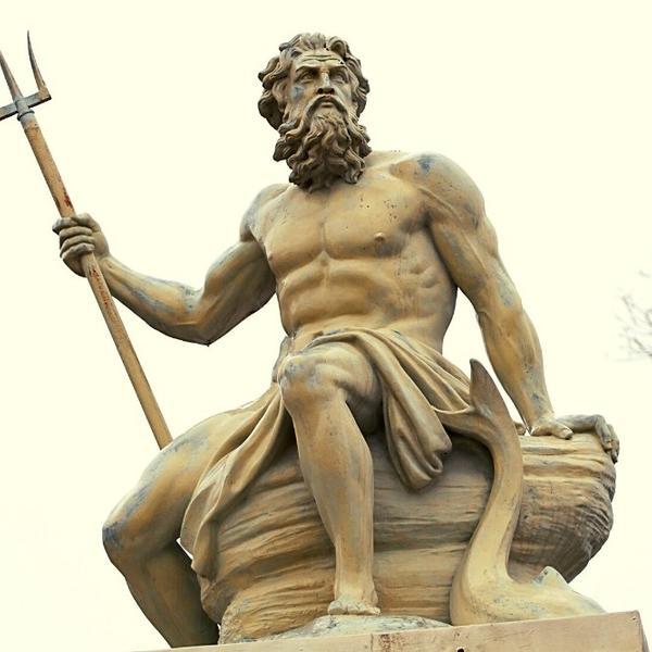 Poseidon, the sea god from the Greek Mythology.