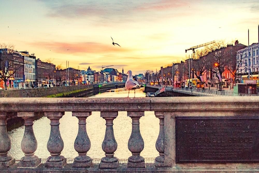 O'Connell bridge, The historical Irish Bridge in Dublin.