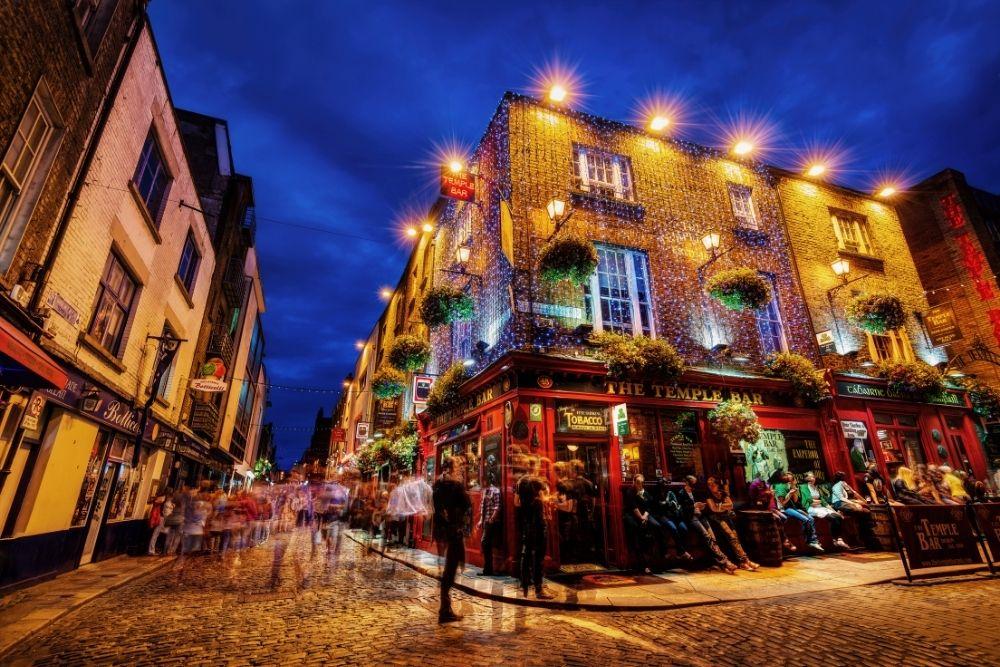 The famous Temple bar in Dublin.