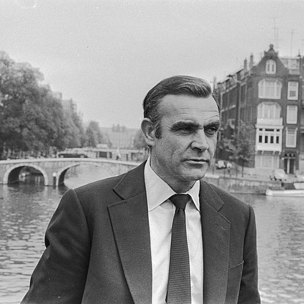Sean Connery in Amsterdam for James Bond film Diamonds are Forever