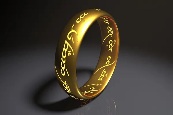 The One Ring to rule them all from the movie Lord Of The Rings.