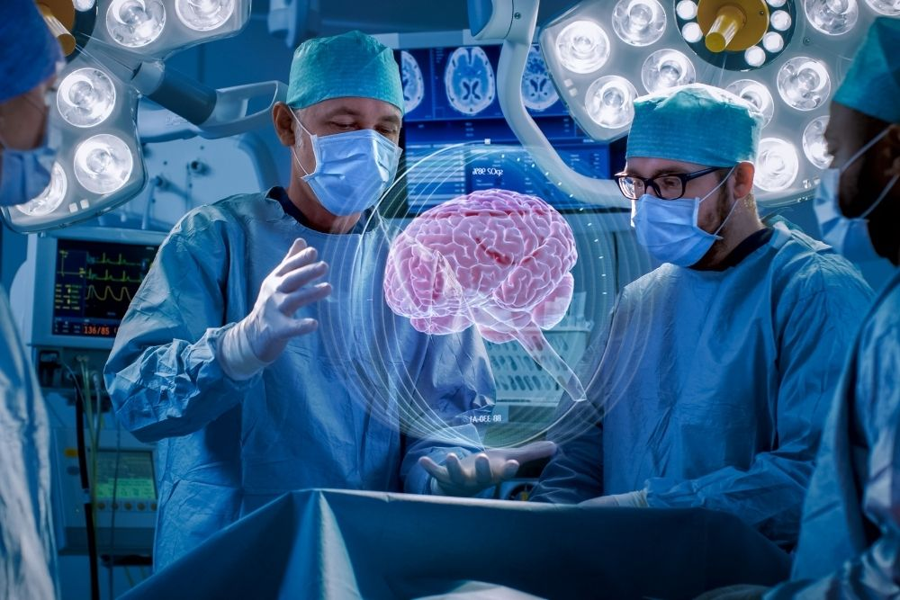 Neurosurgery is the medical specialty of surgery of the brain.