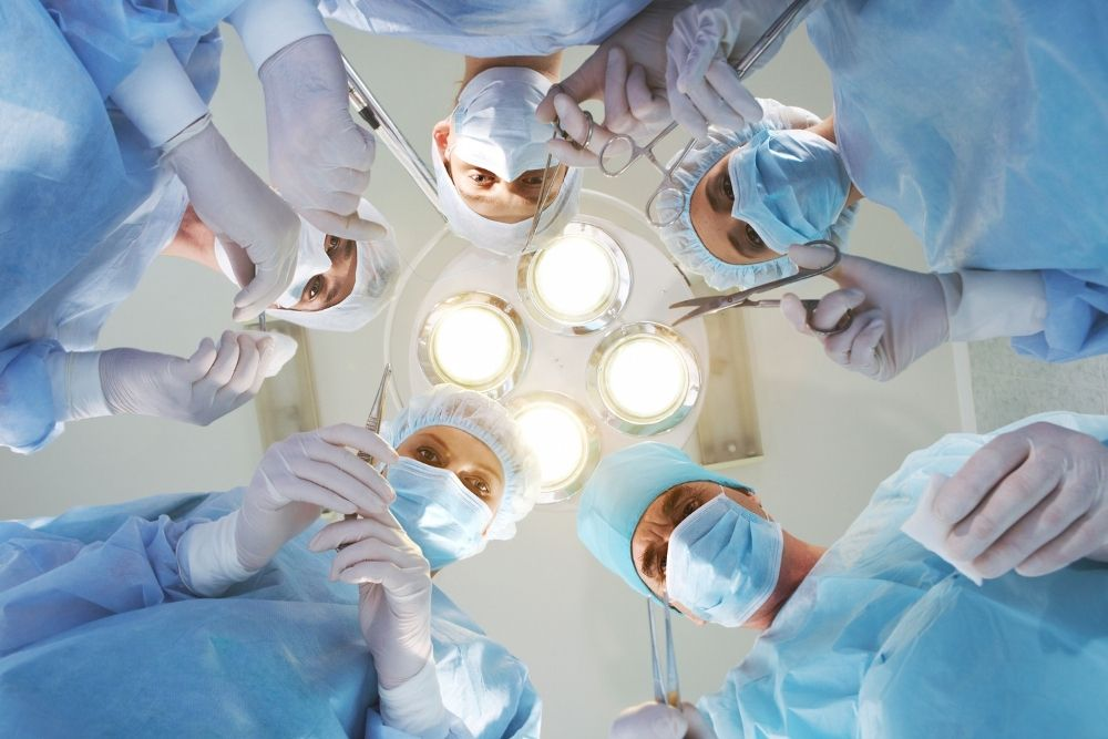 A funny medical doctor holding x-ray results.