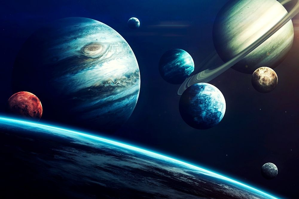 The planets of our solar system.