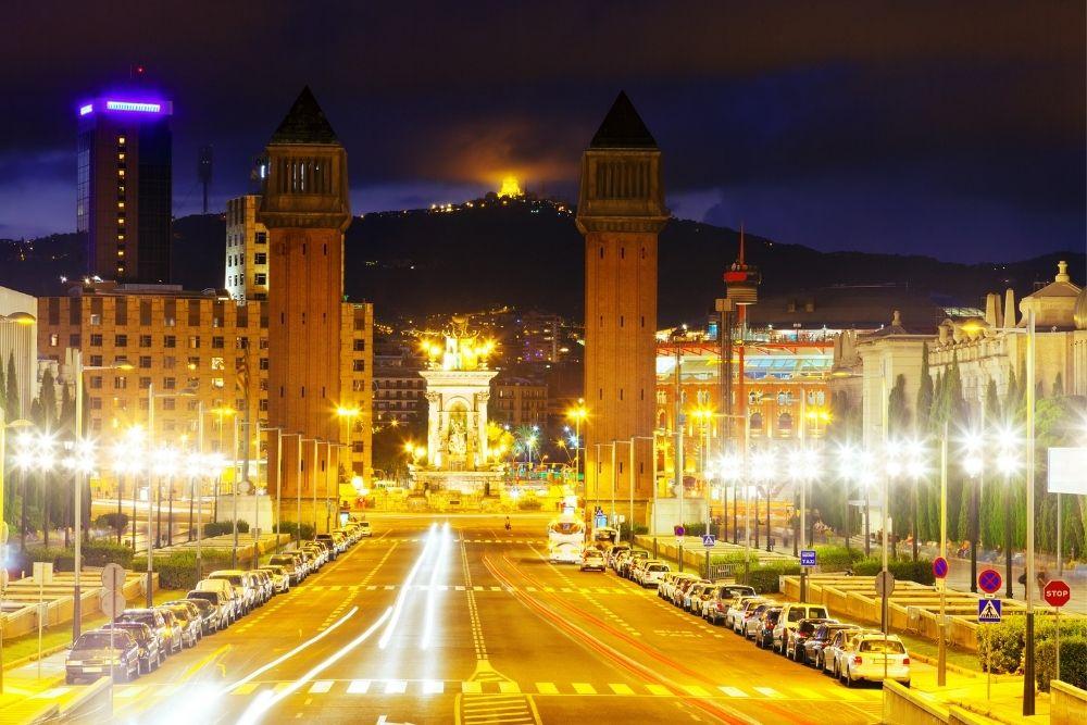 Spain square in Barcelona, Spain.