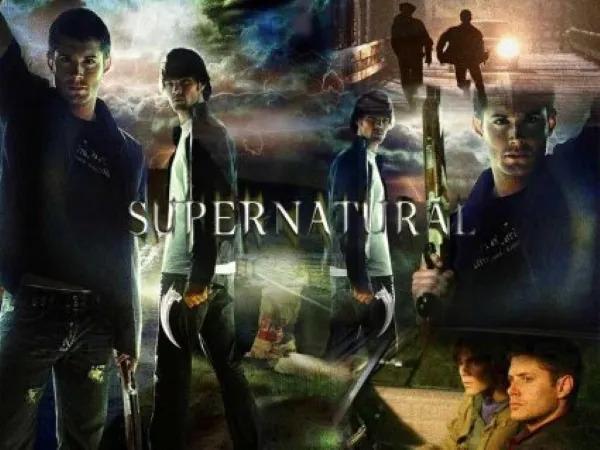 Supernatural Collage with Jensen Ackles and Jared Padalecki.