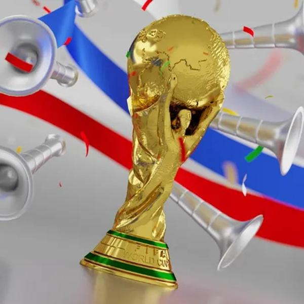 FIFA World Cup trophy from the 2018 World Cup.