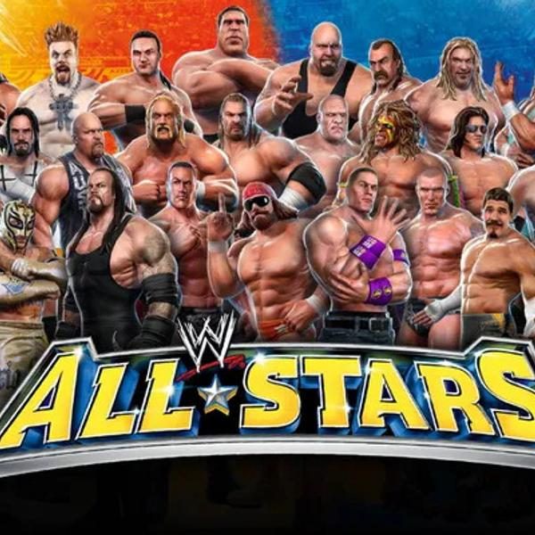 WWE all-star collage of all the top wrestlers.