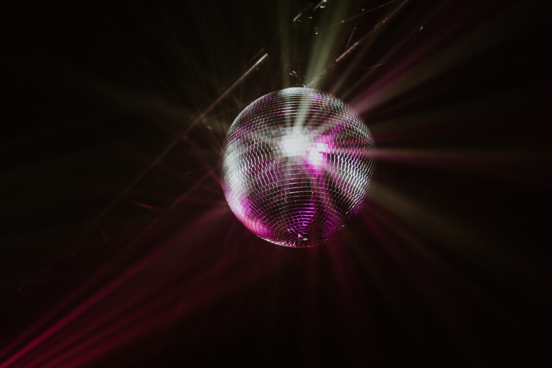 A Disco ball from a 70s music party.