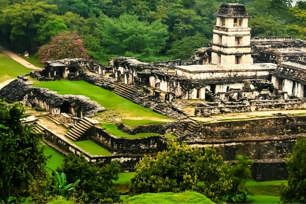 The ancient historical Mayan city.