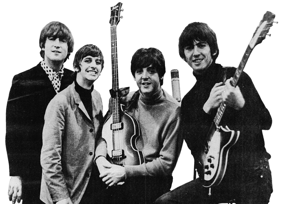 The Beatles, during a tour in 1965.