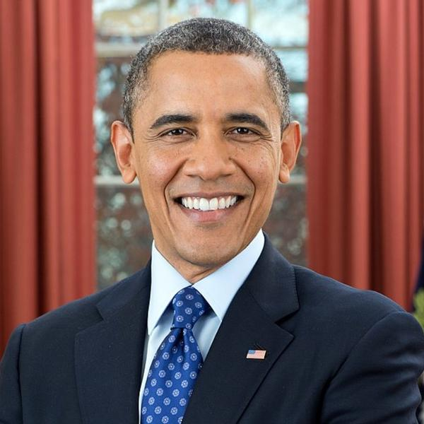 Barak Obama, the first black president in the history of the USA.