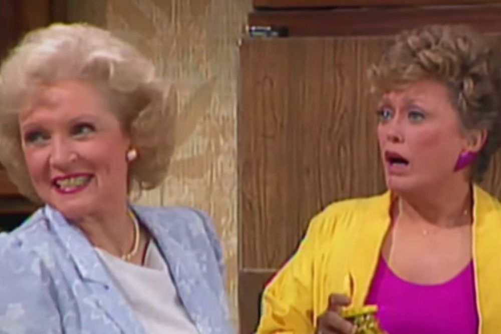 Blanche and rose from the Golden Girls.
