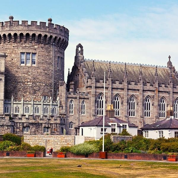 The ancient and historical Irish castle in Dublin.