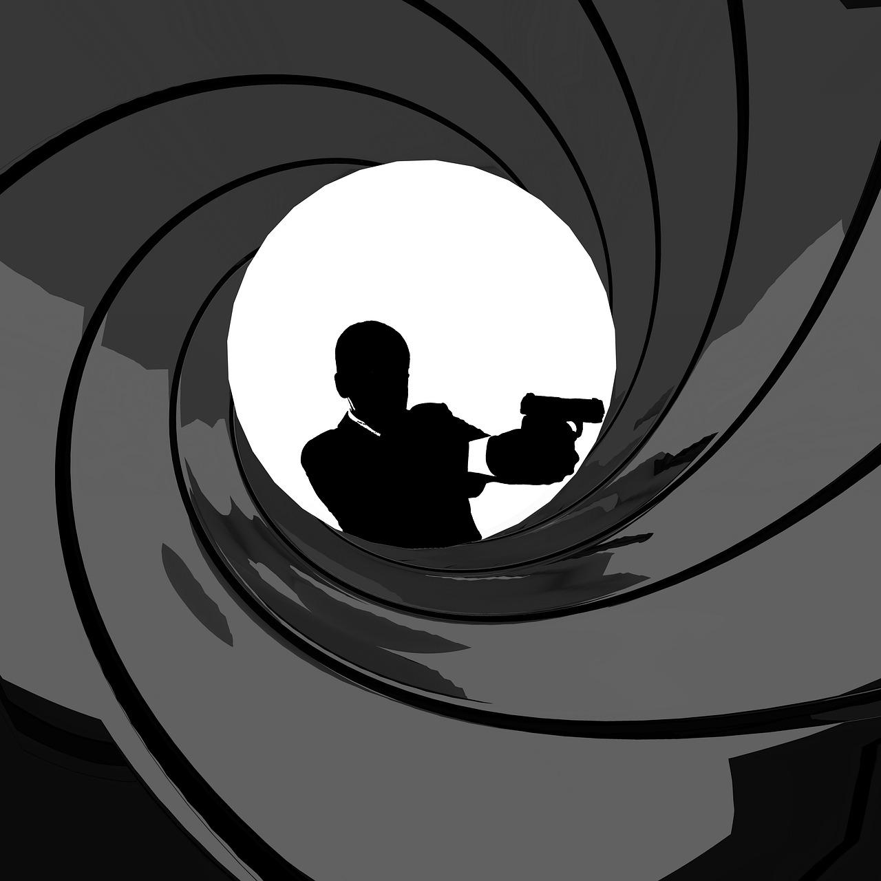 James Bond Logo with a gun.