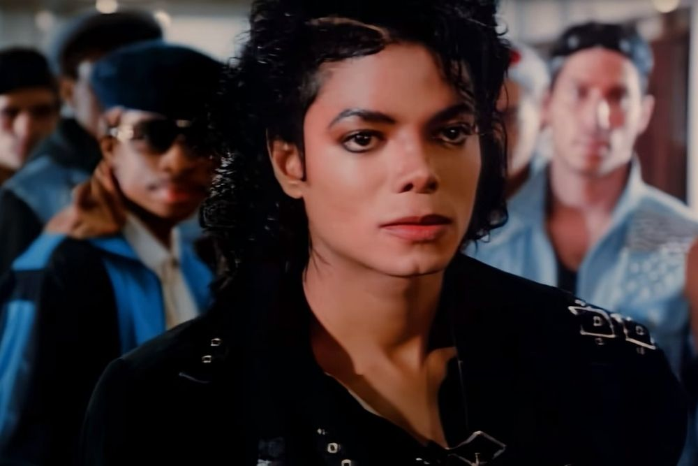 """Michael Jackson, in his video clip of the song """"bad,""""."""