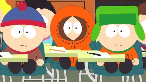 South Park Characters Kyle, Kenny & Stan.