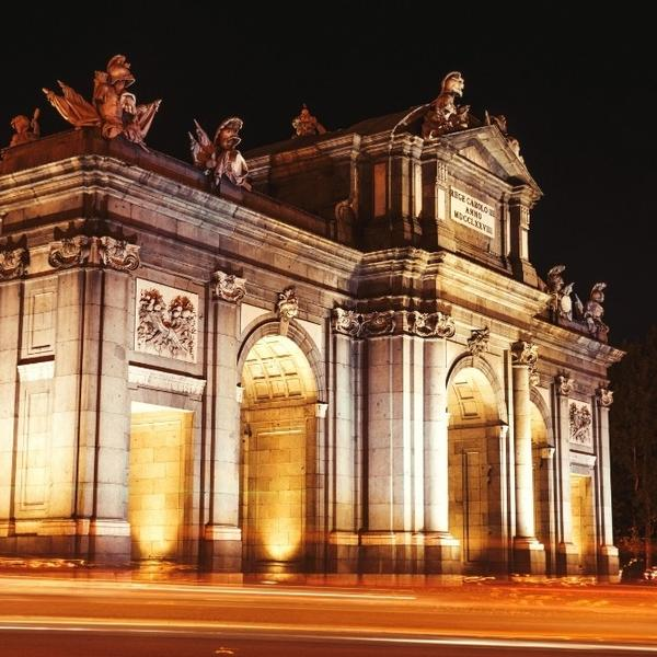 A Gate monument in Madrid, Spain.