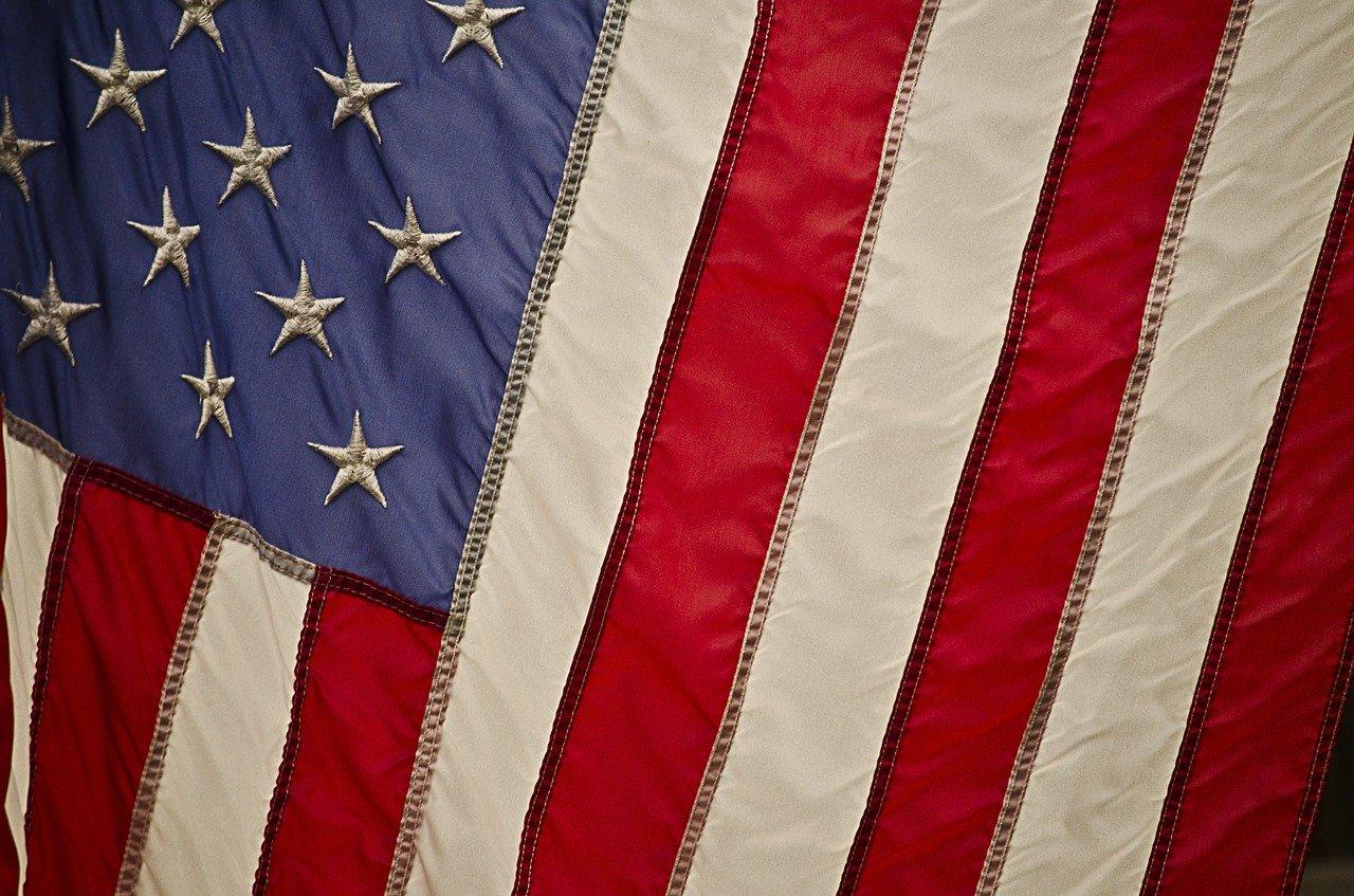 US flag close up.