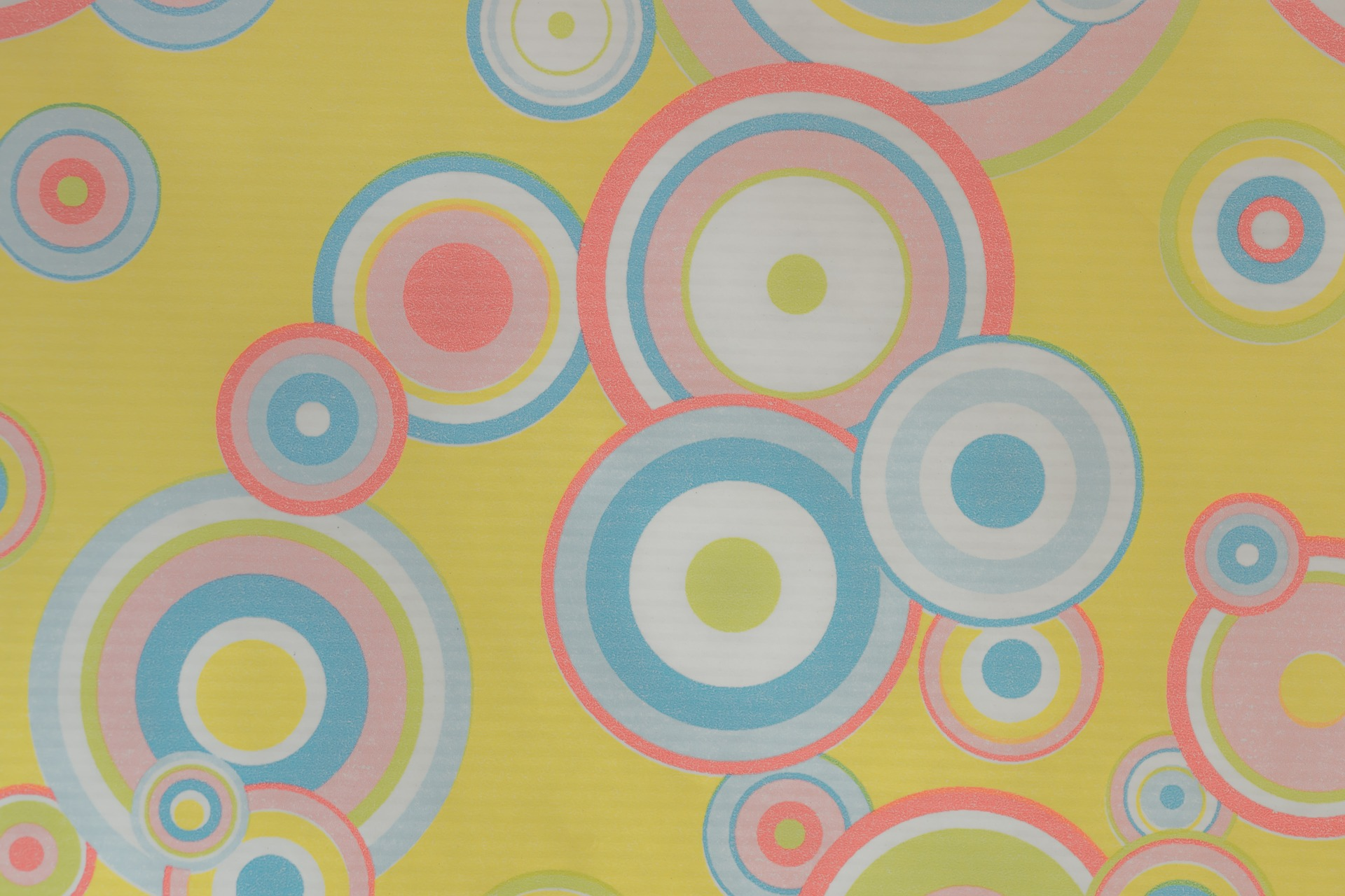Abstract retro circles in 70s style.