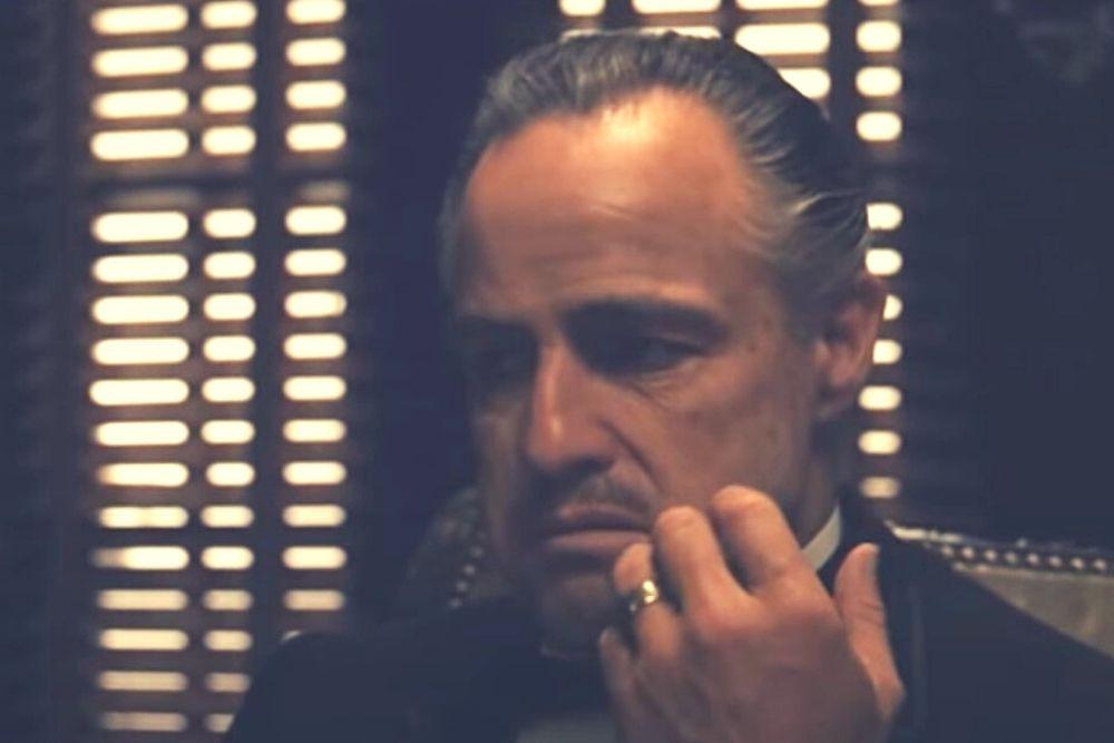 Vito Corleone from the godfather movie.